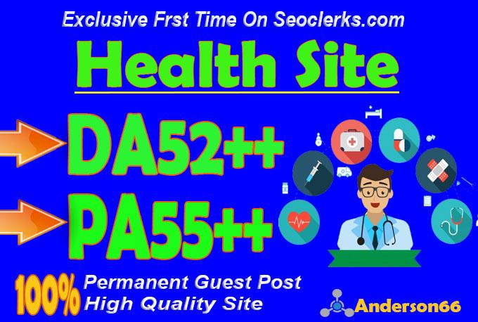 do guest post in DA52 HQ Health blog