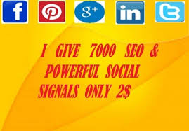High PR 7000 Social Signals with super fast speed