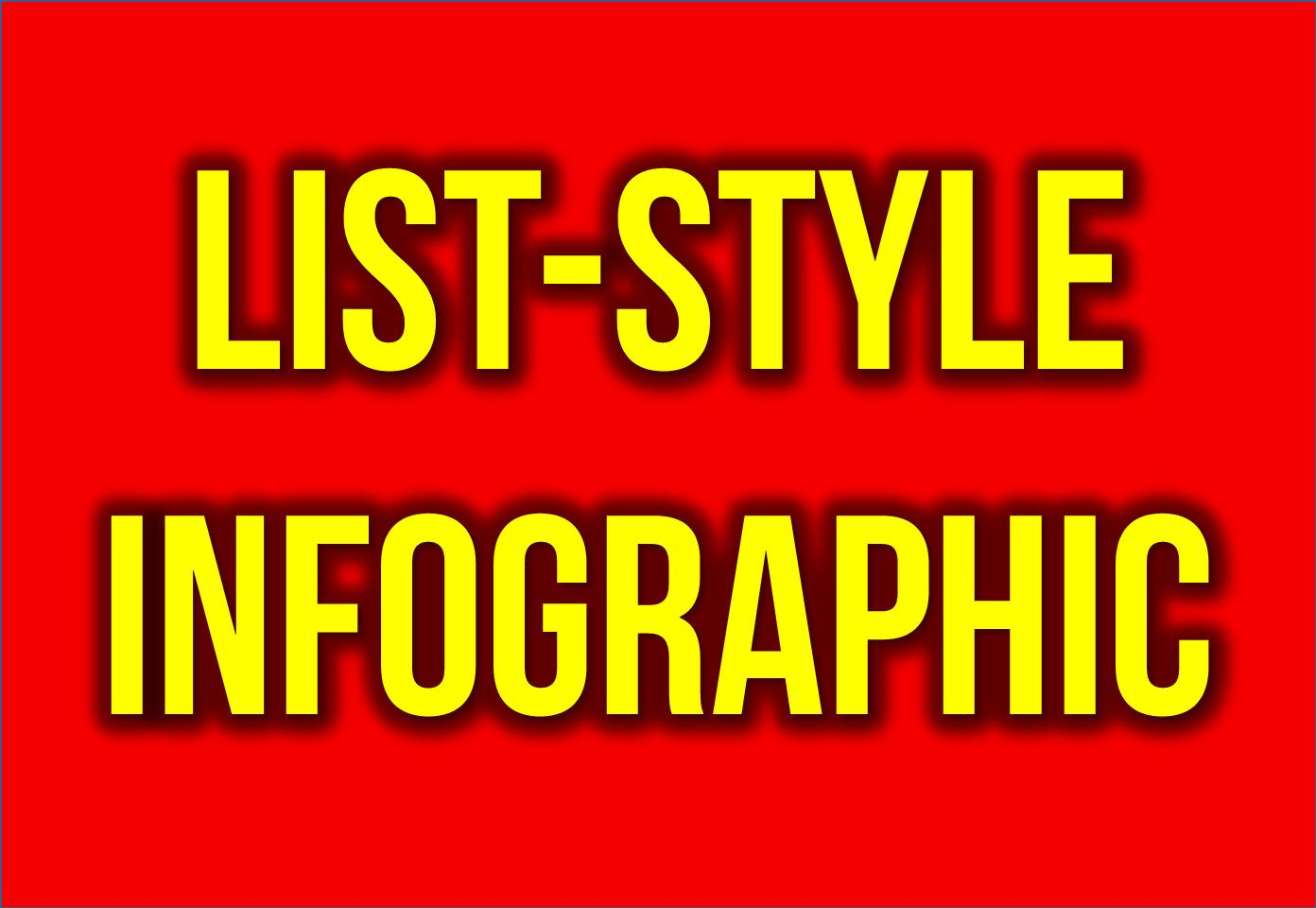 Create for you an amazing list-style infographic