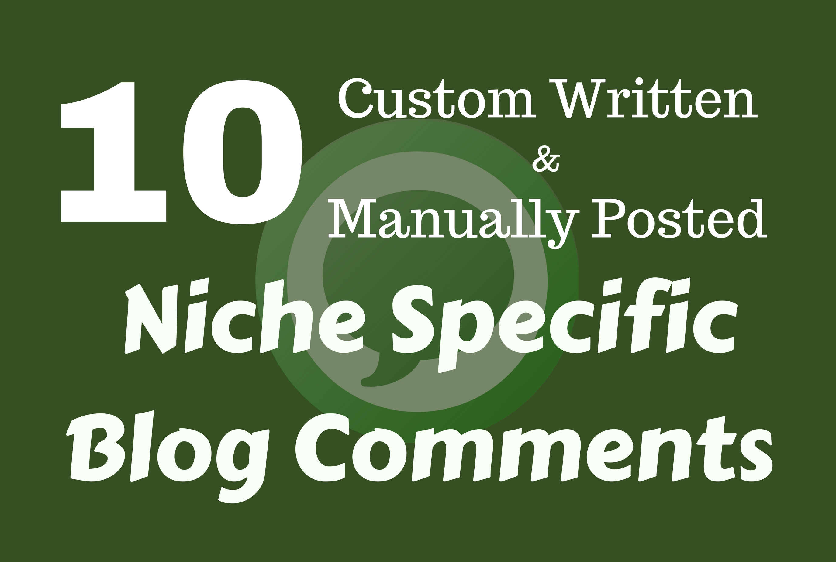 Manually Posted 10 Custom Written Niche Specific Blog...