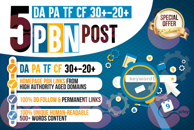 300 WEB 2.0 High TF CF DA PA Homepage PBN Backlinks Permanent