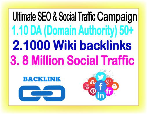 Google Safe SEO amp Traffic campaign Promote 8 Million Social Members 10 DA Backlinks1000 Wiki Backlinks