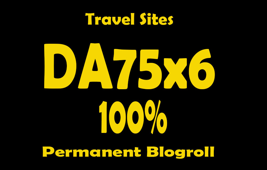 Give Your Backlink Da75x6 travel Blogroll Dofollow