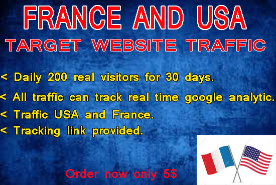 DRIVE TARGETED WEBSITE TRAFFIC FROM USA AND FRANCE TO...