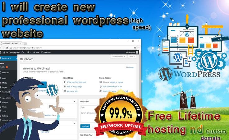Create wordpress website which doesn't need further investment