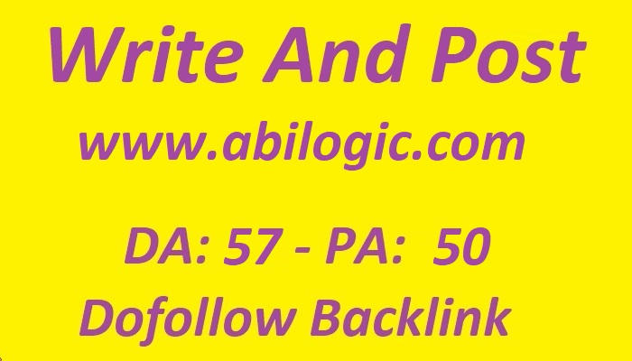 Write and Publish guest post on Abilogic. com with dofollow