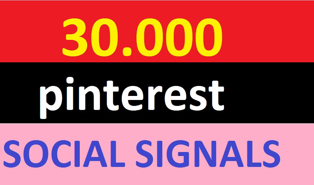 30,000 pinterest Social Signals Come From Top 1 Social Media Sites