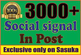 3000 Social Signals to social field