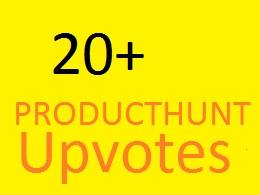 20+ Worldwide Producthunt Upvotes