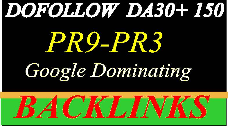 Build High PR9 - PR3 DA 50 +150 High-Quality Domain A...