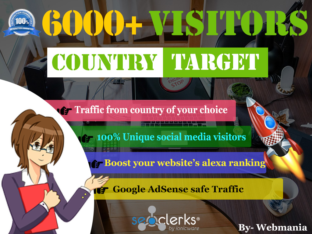 2018 - Country targeted traffic for 30 days