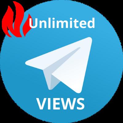 400 - 40k telegram view for 1 week unlimited post