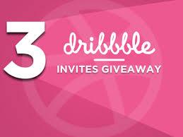 3 Dribbble Invites selling