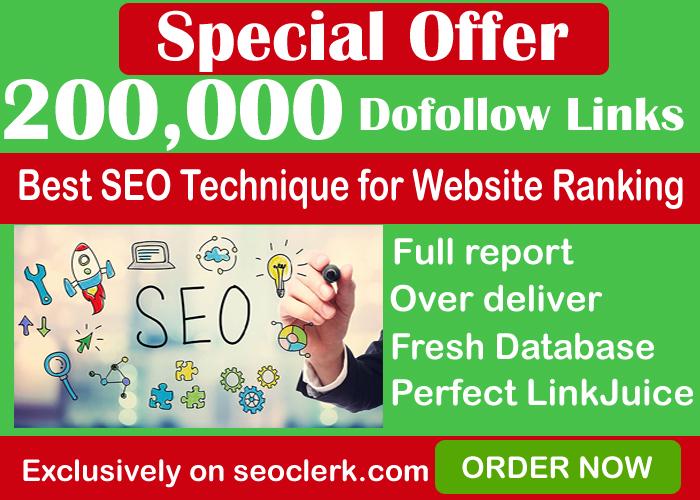 200,000 GSA SER Dofollow Backlinks