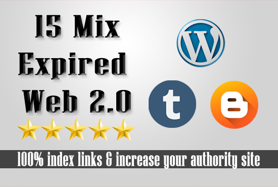 15 Expired Wordpress Tumblr Blogspot with have PA