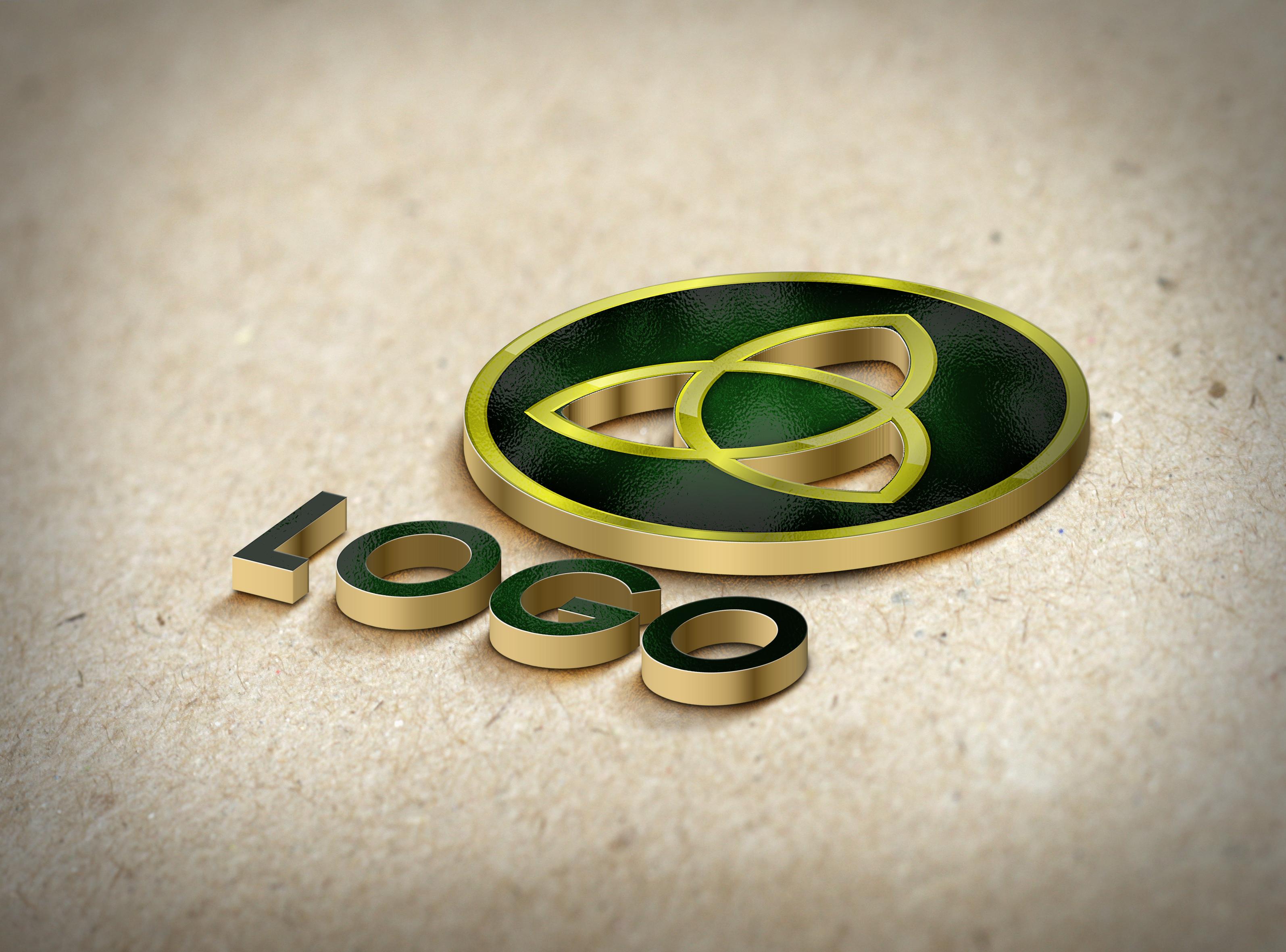 convert your text or logo into 3D MockUp design - sample no3