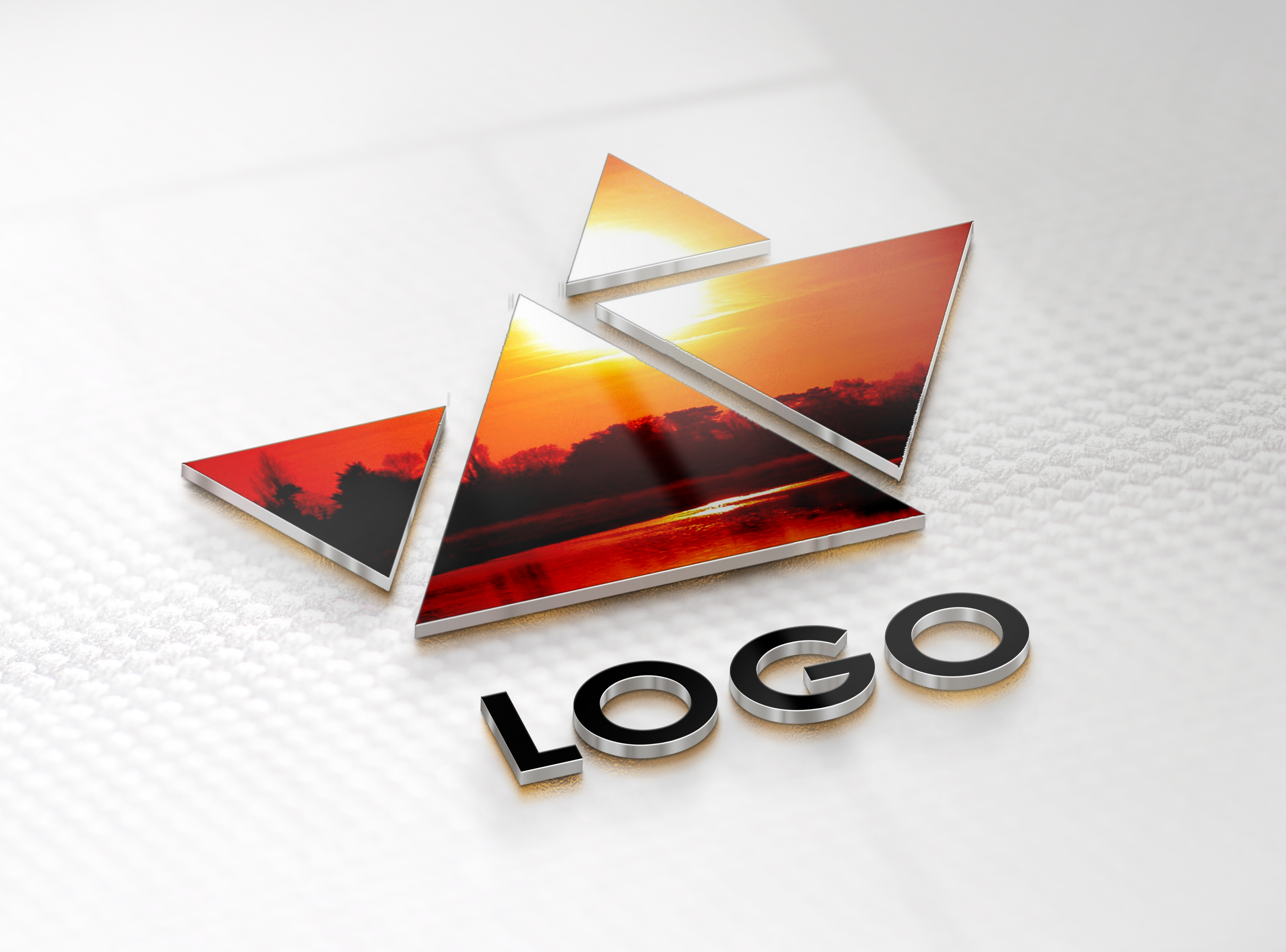convert your logo into 3D MockUp design - sample no4