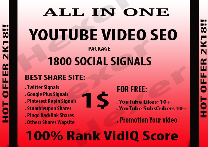 CPA Marketing Youtube Video Seo Best Package 700 Soci...