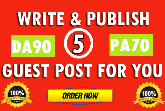 Write & Publish 5 Guest Post on PA70,  CF58,  DA90 With Dofollow High Backlink Limited Offer