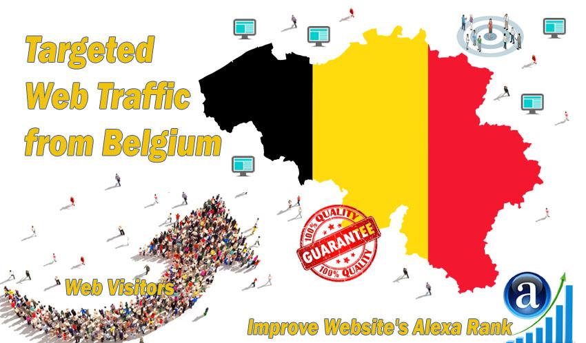 Send 10.000 Belgium web visitors real targeted geo tr...