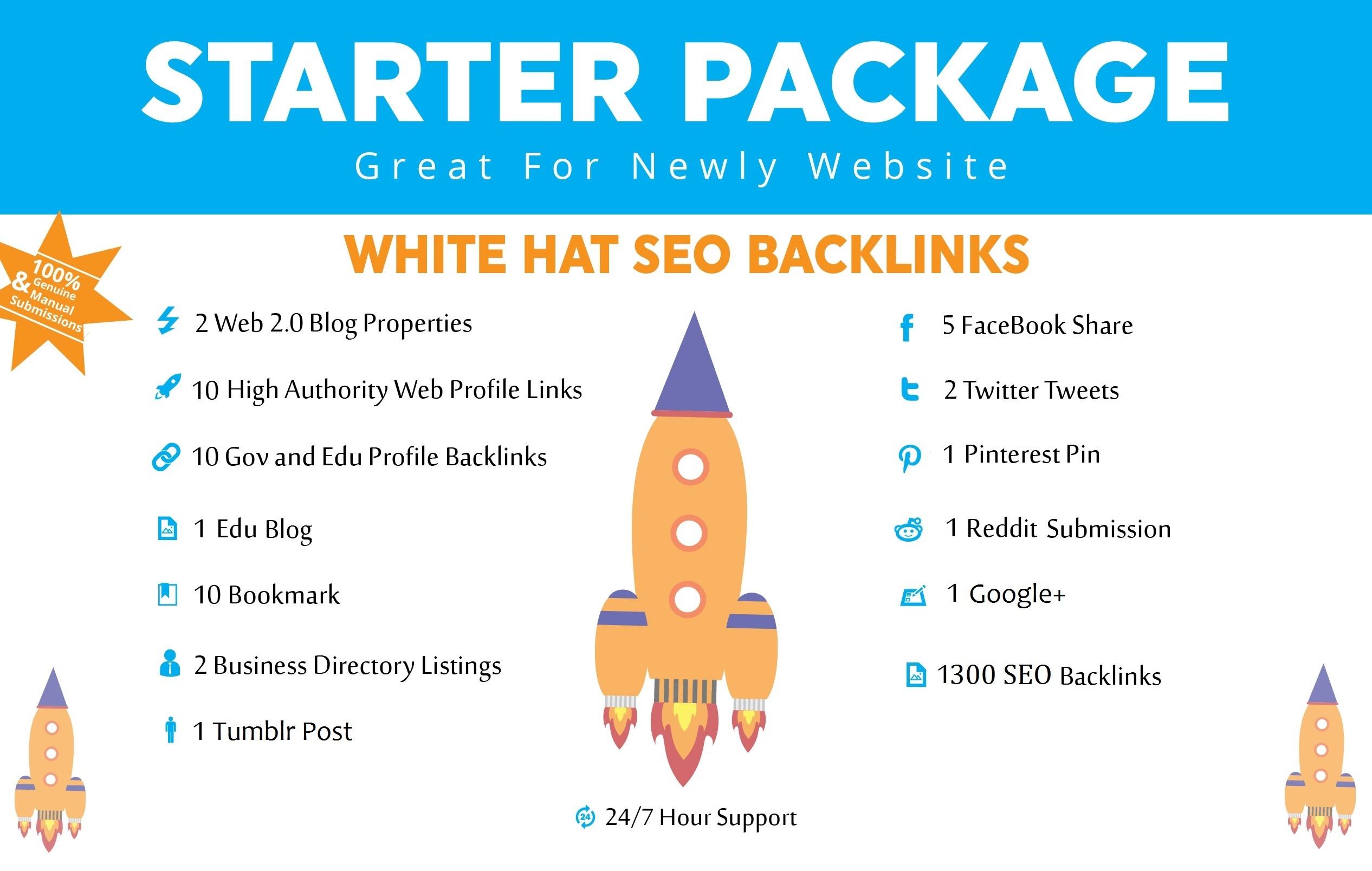 HQ SEO Backlinks Package  Provide High Quality Live SEO Backlinks