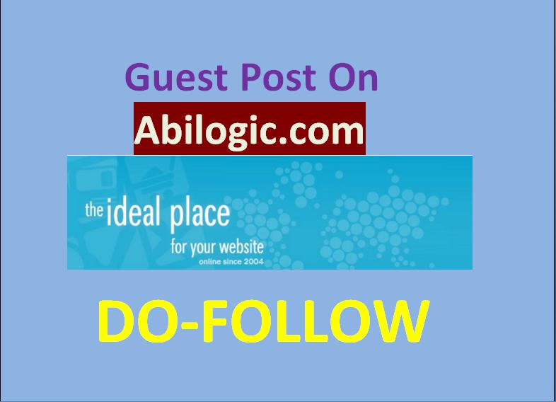 Publish guest post on abilogic.com