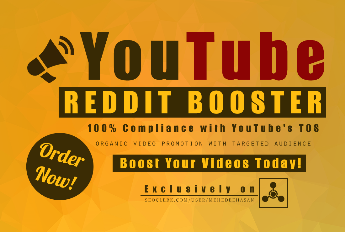 Promote YouTube Video On REDDIT, Organic Social Prom...