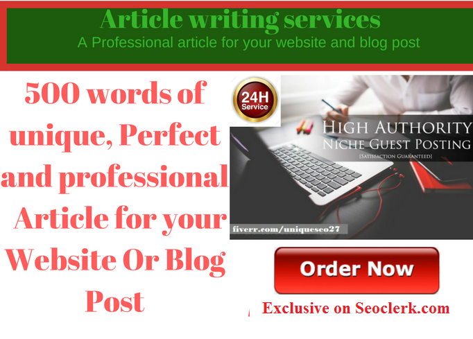 Write 500 word of professional article, Website And ...
