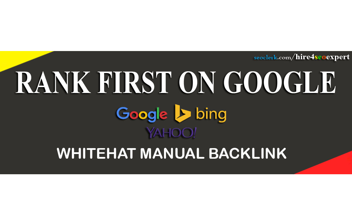 Rank Your Website First In Google With Whitehat MANUAL 125 SEO Backlinks