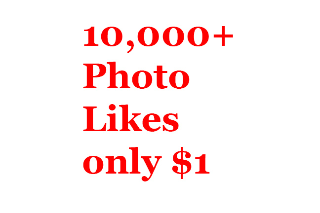 Buy real active non drop 10000+ Photo Likes or 30000+ Video Views
