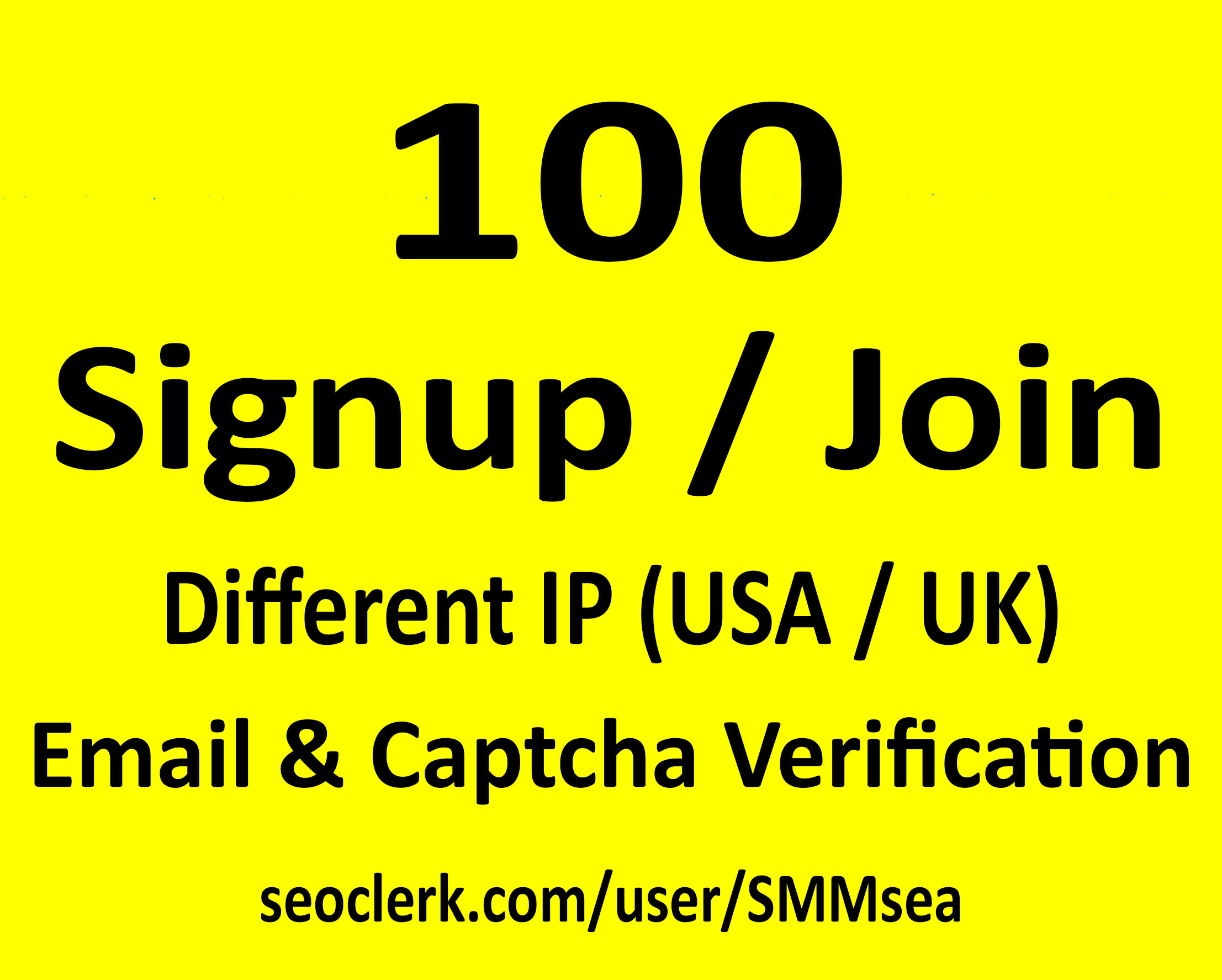 Give 100 Signup or Join for Any Website or Link with ...