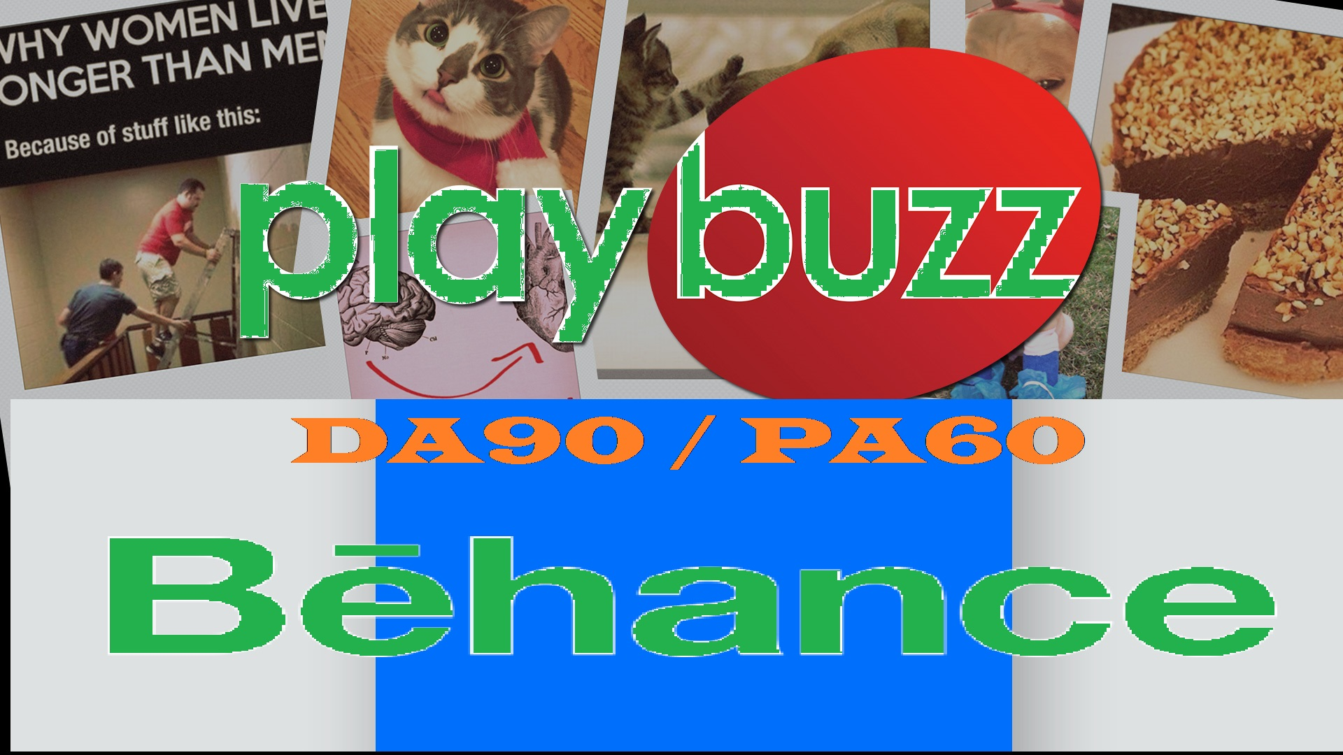 Write and Publish Guest Post on Behance and Playbuzz DA90 manually