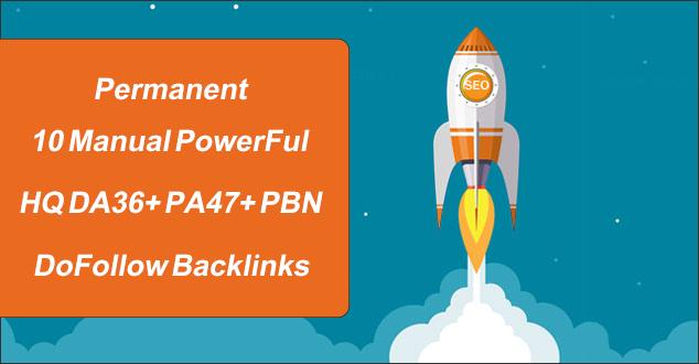Permanent 10 Manual PowerFul HQ DA/PA PBN Homepage DoFollow Backlinks To optimize you SERP