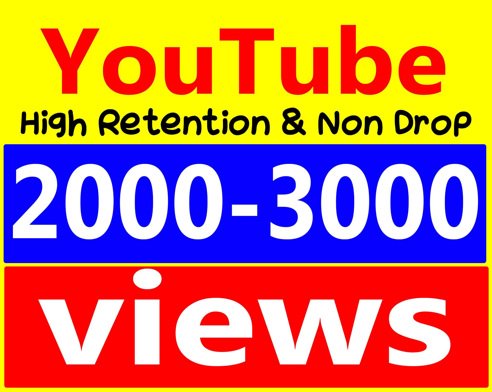 Fast 2000 To 3000 Views High Retention 90100 Adsense Safe amp Non Drop Service