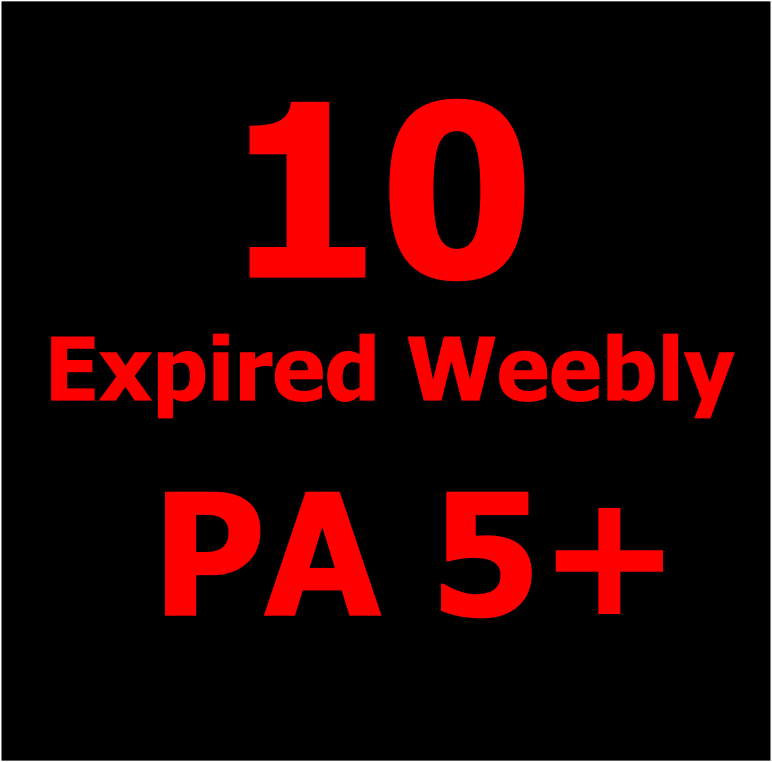 Give you 10 Unregistered Expired Weebly Blogs