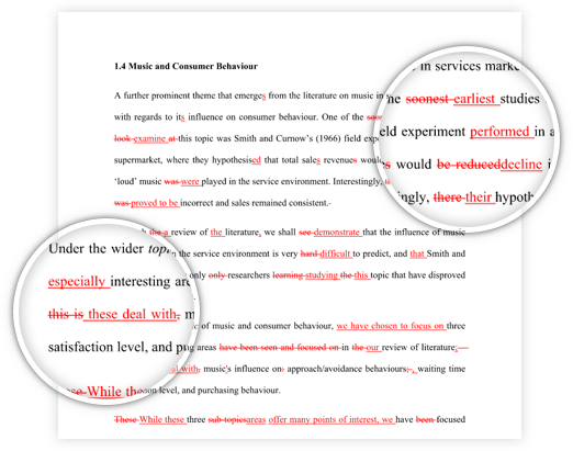 Professional Proofreading and Editing