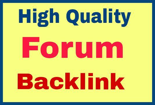 offer 20 forum high quality forum posting back link