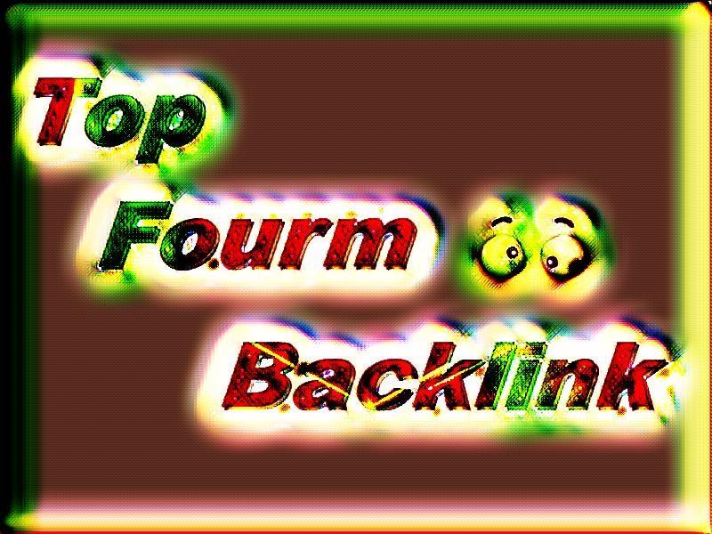 Promote Niche Relevant Forum backlink