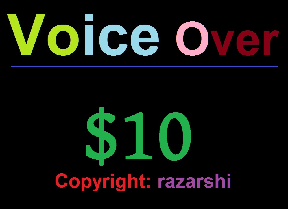 Voice-over Project Exclusively on Monster Backlinks