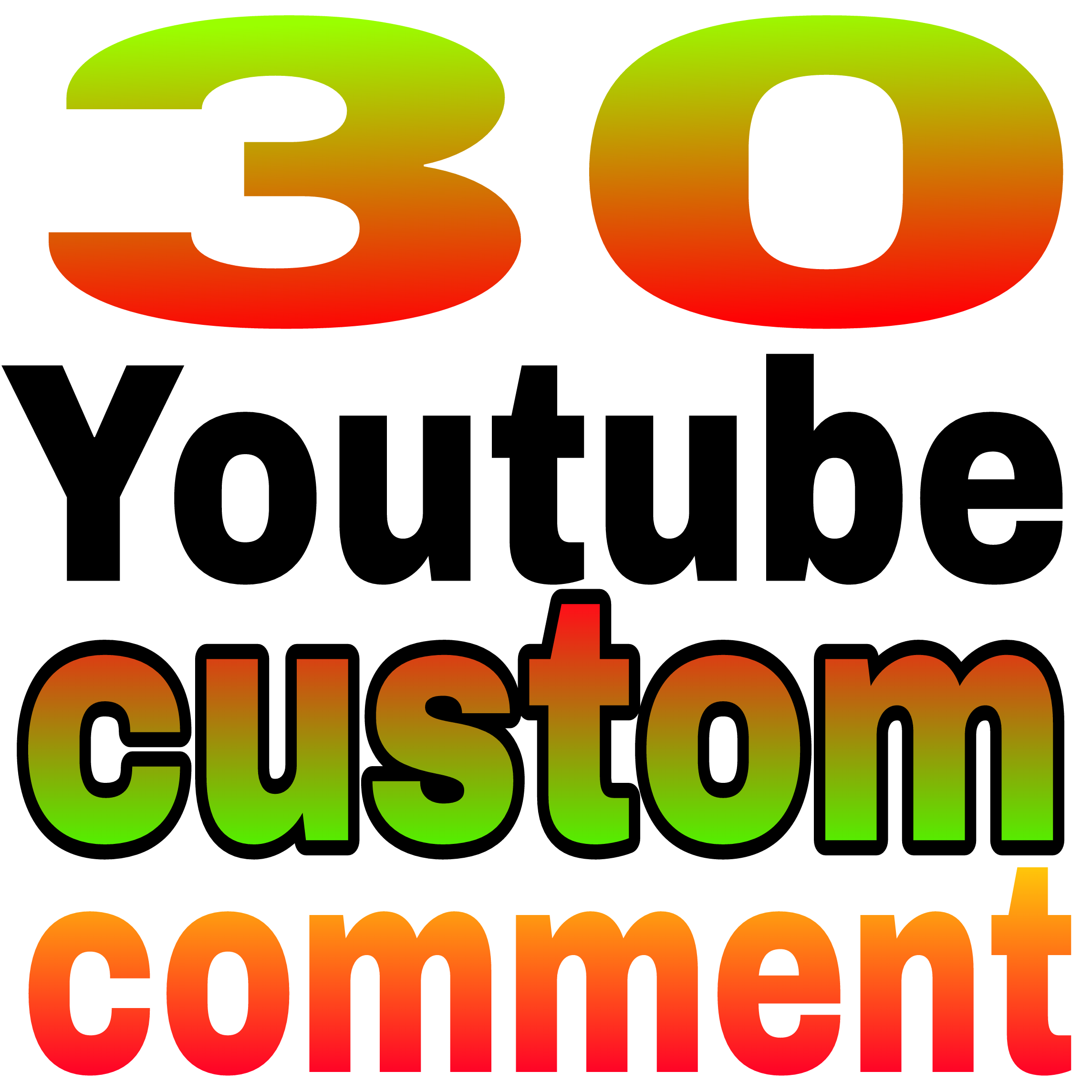 30+ YouTube custom comment human verified must be profile picture Nondrop very fast in 35 hours