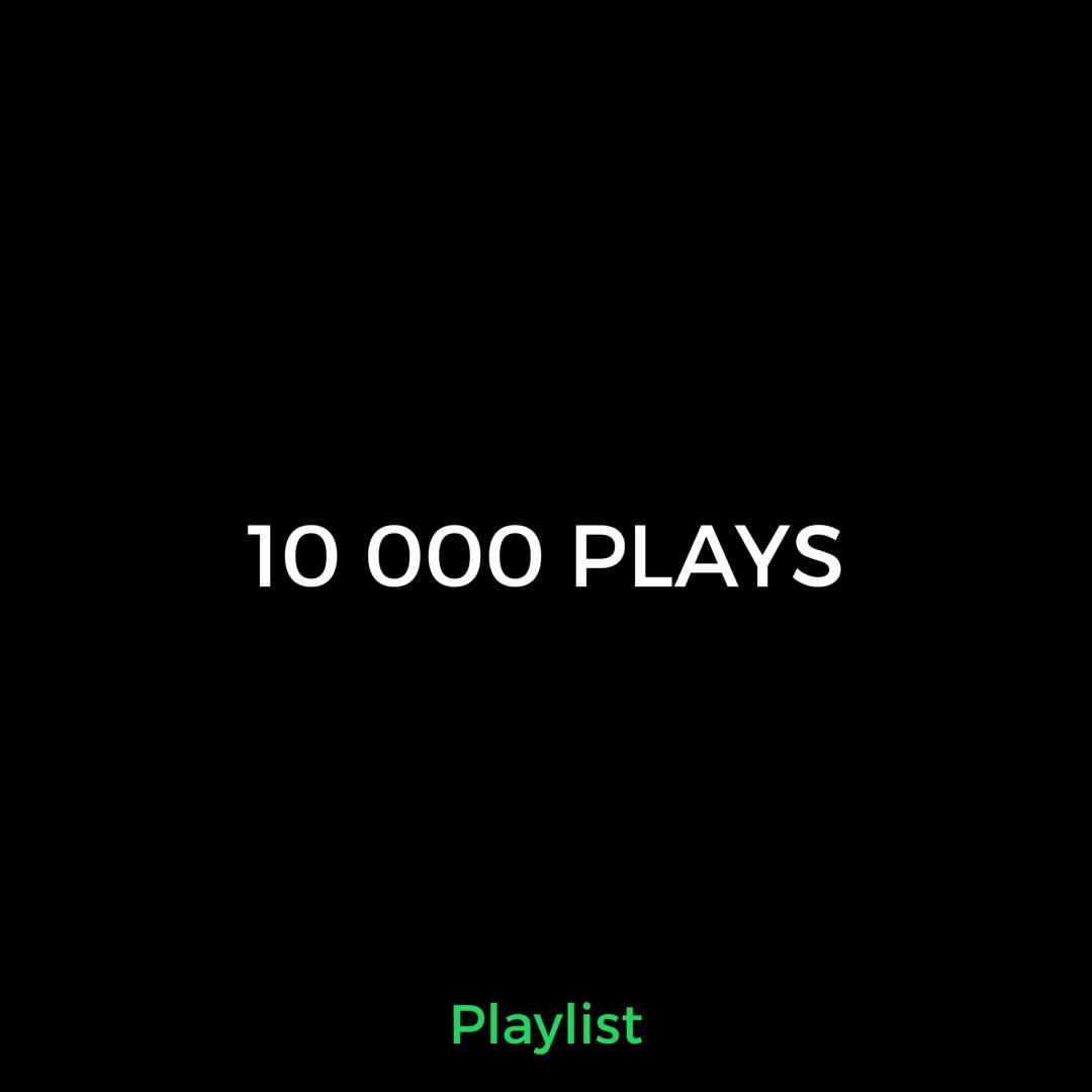 10 000 Playlist Music Promotion Spot