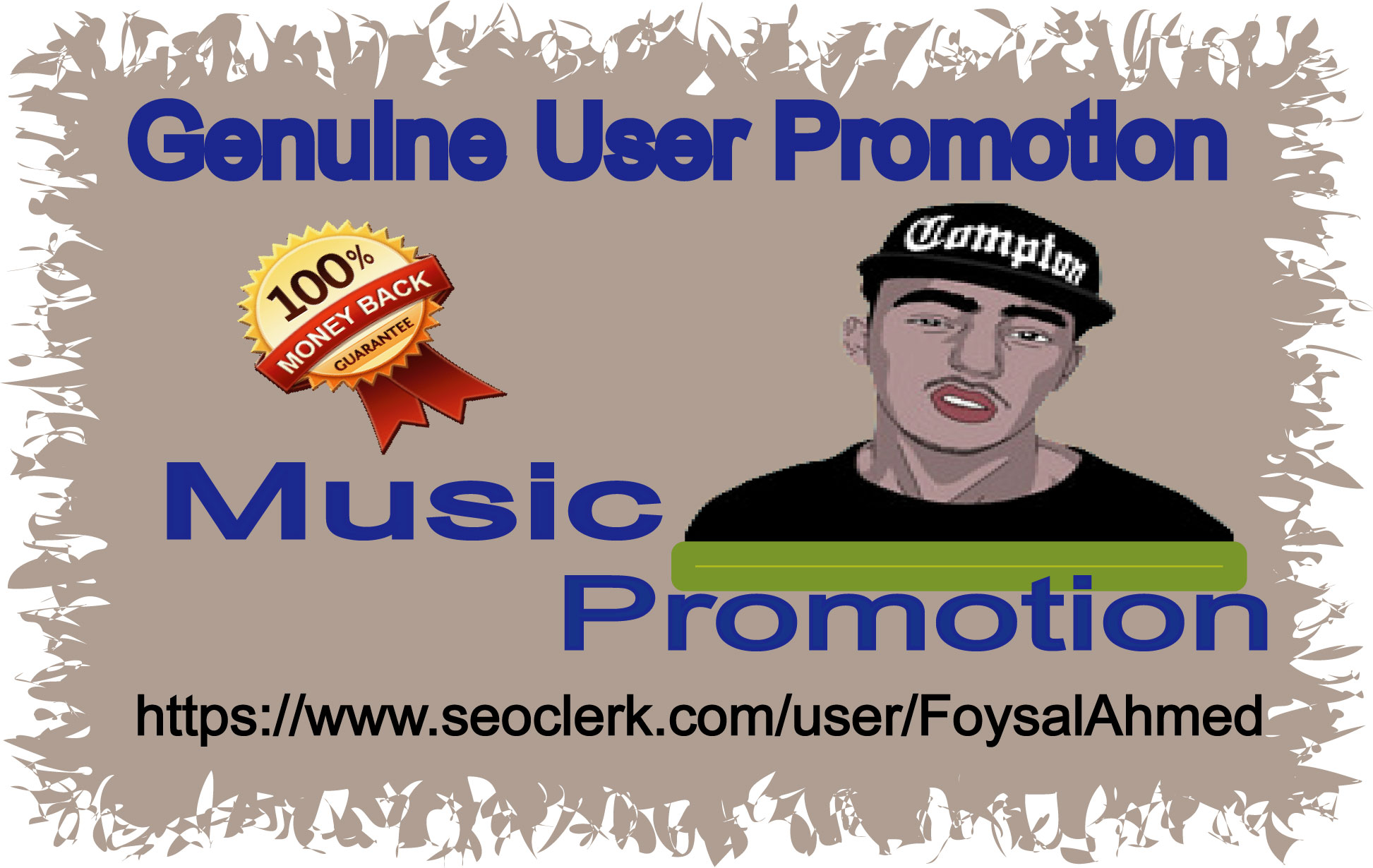 Hip Hop Song 10,  000 Real User Music Play & 25 L ke And 25 Re-post Delivery in one day