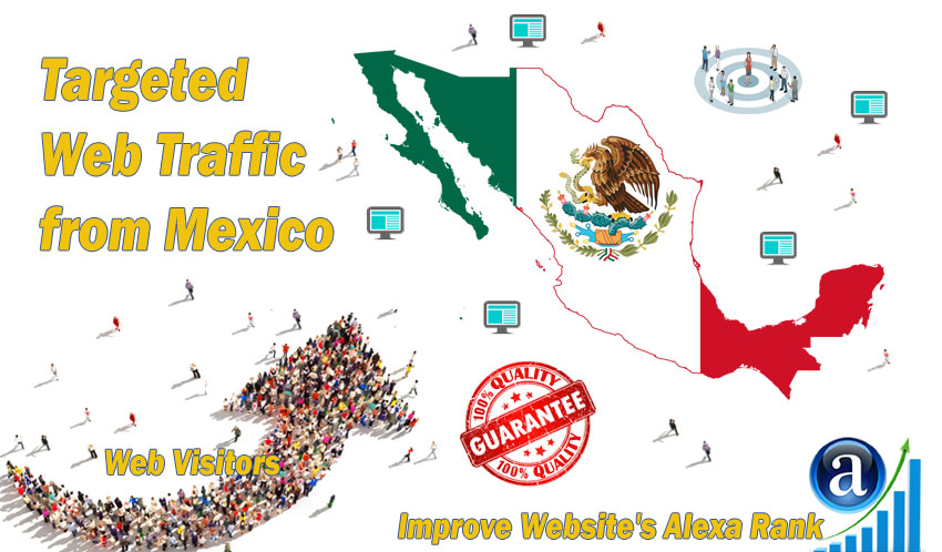 Mexican web visitors real targeted Organic web traffic from Mexico
