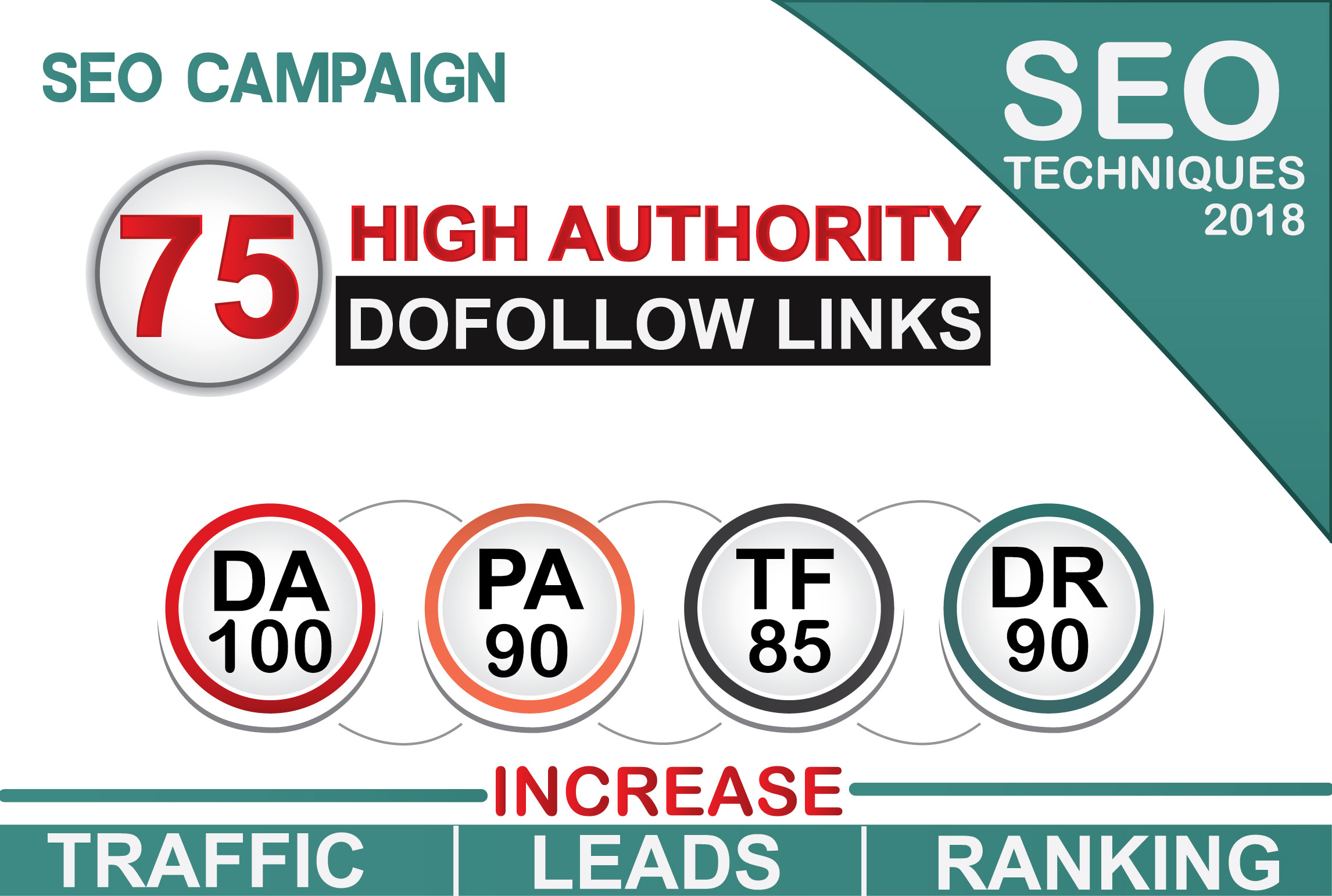 I Will Do 75 High Authority Dofollow Backlinks,Da100