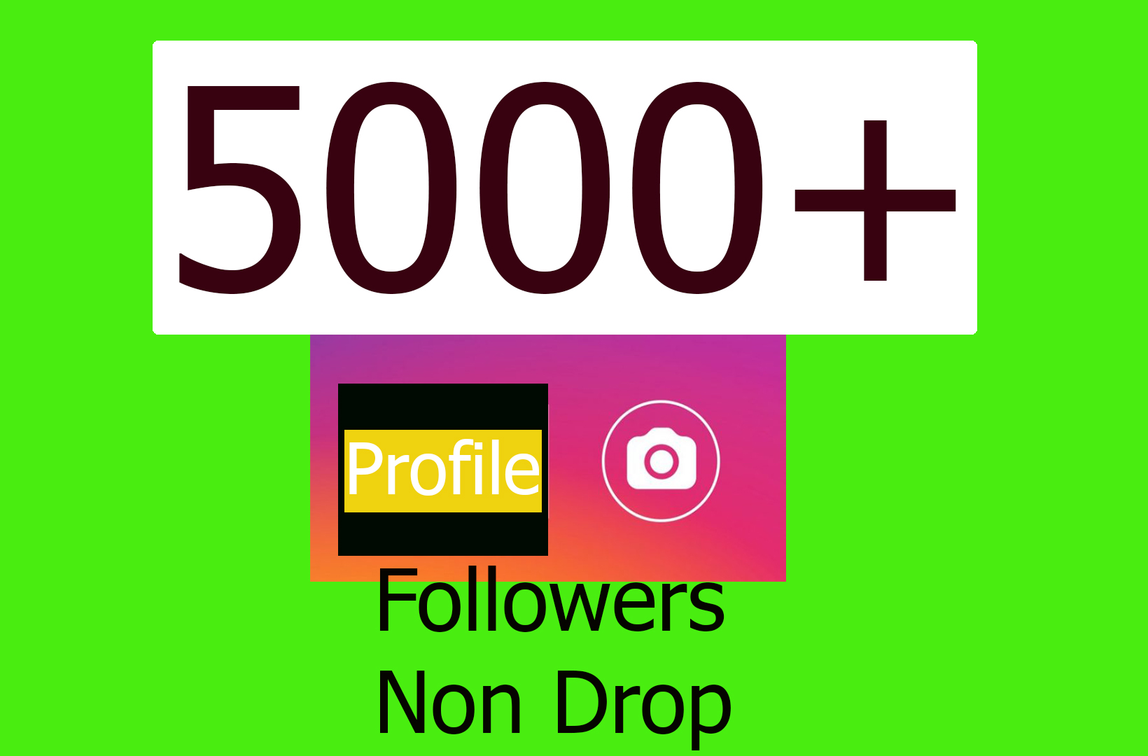 Amazing results 5000+ Social Profile Followers In 2-3Hr Non Drop