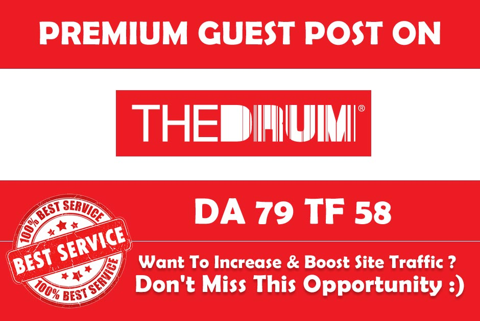 Publish Guest post on Thedrum. Com with a High Author...