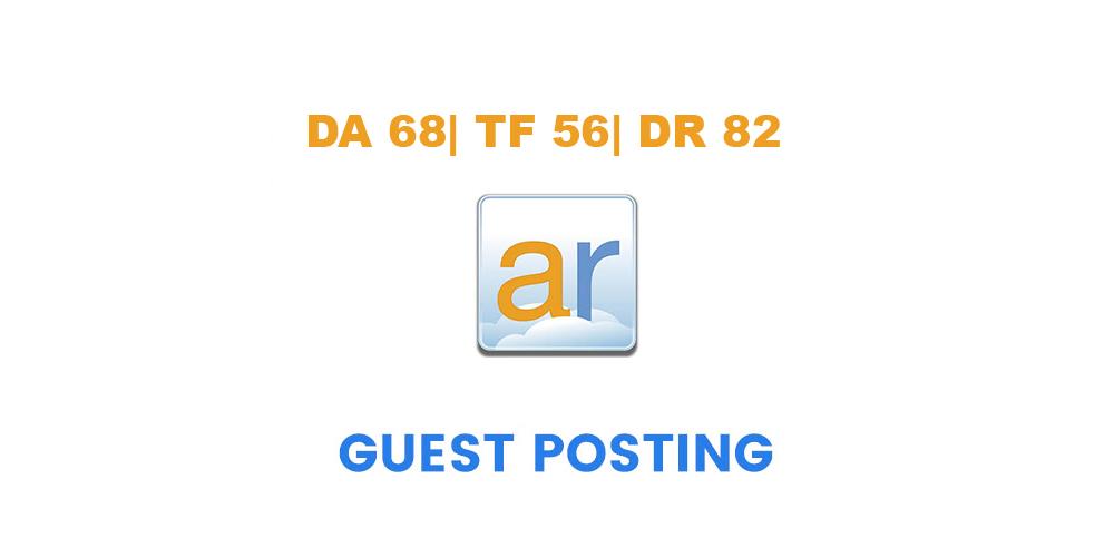 Publish a guest post on ActiveRain. com - DA68, TF56...