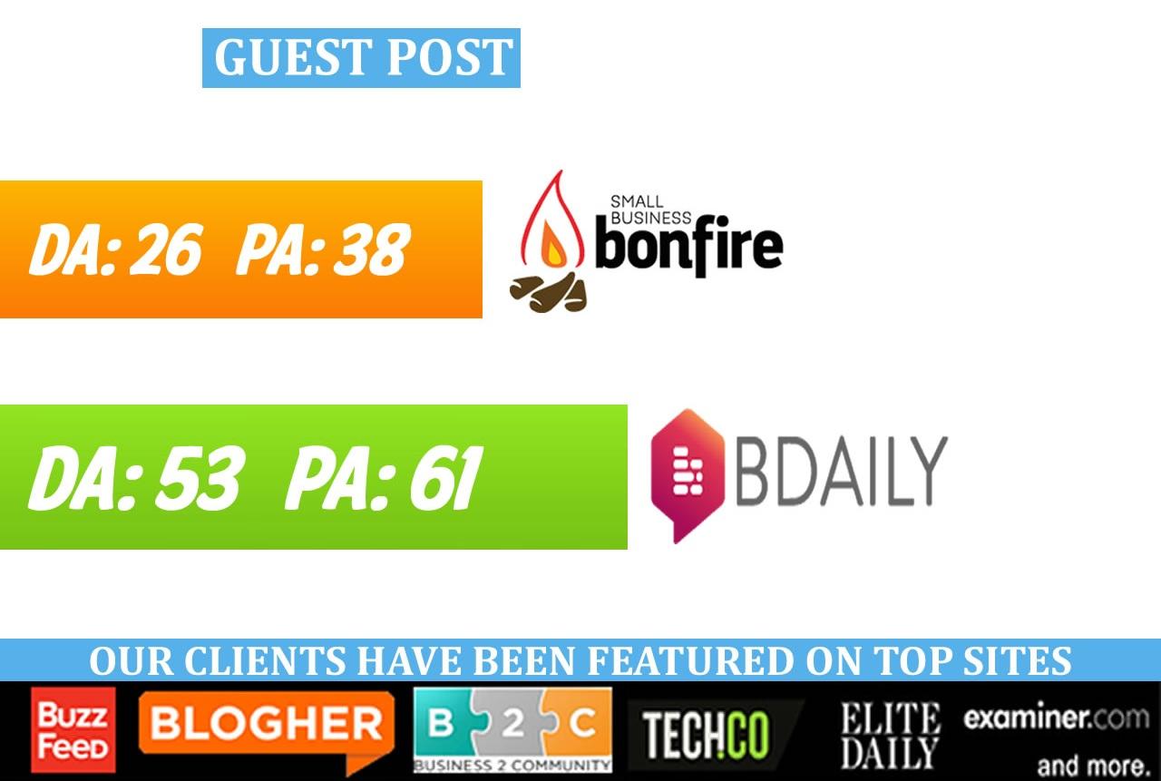 write & publish guest post on SmallBizBonfire, w...