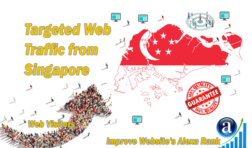 Singaporean web visitors real targeted Organic web traffic from Singapore
