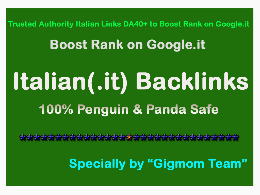 Trusted Manual 30 Authority Italian Links DA40+ to Boost Rank on Google. it